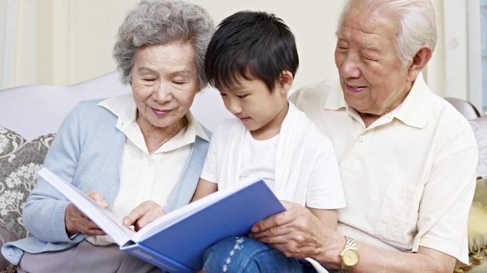 grandparents and grandson