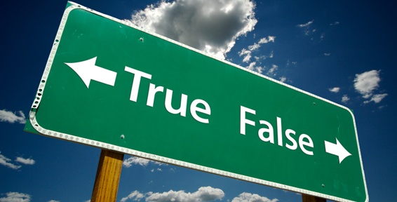 True, False Road Sign